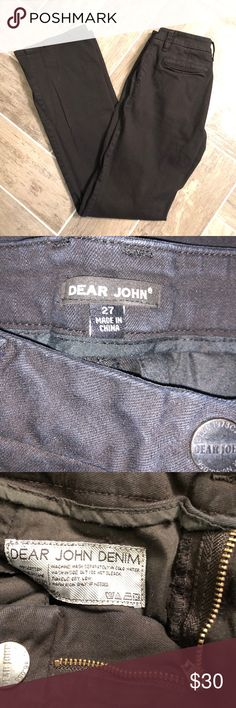 Dear John wide leg jeans Super Cute black jeans.  I love the way they fit but I just don't wear a lot of black jeans.  They came in my stitch fix box and I loved the fit so much I kept them but I've only worn them a few times. dear john Jeans Flare & Wide Leg