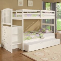 Graceful Twin Bunk Bed Storage