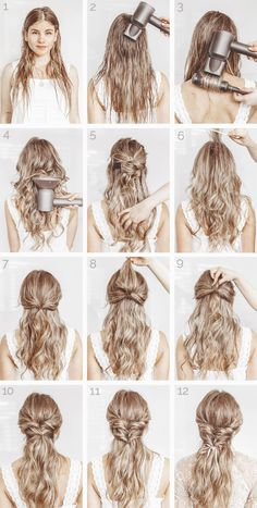 5 minutters opplæring: Elegant frisyre, 5 minutters veiledning: Elegant frisyre ›thefashionfractio ......,  #Elegant #frisyre #hårstil #EasyElegantHairstyles 5 Minute Hairstyles, Elegant Hairstyles, Braided Hairstyles, Wedding Hairstyles, Blonde Updo, Medium Hair Styles, Curly Hair Styles, Updo Tutorial, Floral Hair