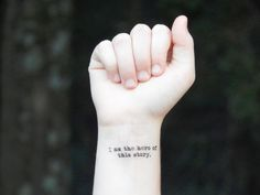 Temporary Tattoo Quote Tattoo Inspirational by SymbolicImports