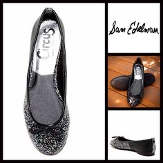 """Black Ballet Flat Shoes Glitter Slip Ons NEW WITH TAGS RETAIL PRICE:   Sam Edelman Black Ballet Skimmer Flat Shoes Glitter Slip Ons   * Slip-on style & round toe (not pointy) w/bow detail at vamp.  * Ballet flat style appox 0.75"""" heel  * Glitter detail in material  * Trim detail  * Non-marking black logo sole  * True to size    Fabric: Manmade upper & rubber sole Color: BlackItem:   No Trades ✅ Offers Considered*✅ *Please use the blue 'offer' button to submit an offer. Sam Edelman Shoes…"""