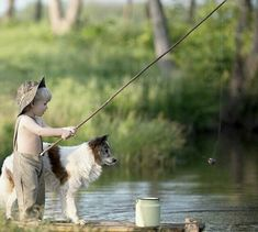 A river boy and his best friend...