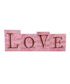 Loving this Pink 'Love' Block Sign Set on #zulily! #zulilyfinds