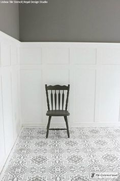 Our Lisboa Tile Stencil is a beautiful classic tile stencil design inspired by the Portuguese tiles, known as azulejos, that line the walls of Lisbon, Portugal. Patio Flooring, Linoleum Flooring, Basement Flooring, Bedroom Flooring, Flooring Ideas, Plywood Floors, Laminate Flooring, Vinyl Flooring, Stenciled Concrete Floor