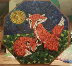 Fox mosaic table