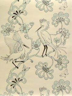 Egrets Signature Prints Florence Broadhurst
