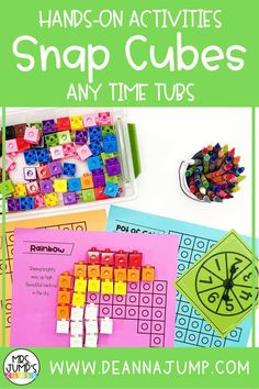 These hands-on snap cube activities are great to use as morning tubs, early finisher activities, kindergarten centers or anytime! Each hands-on kindergarten activity has students to use snap cubes in fun educational ways.