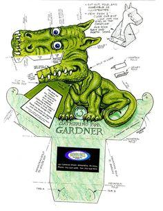 3D Optical Illusion  Green Dragon