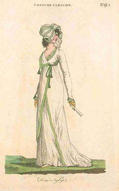 Journal des Dames et des Modes (published in Fashions of London and Paris), July 1800.