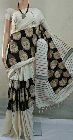 Pure cotton handloom khes Kalamkari Saree with BP Kalamkari Kurti, Kalamkari Saree, Jamdani Saree, Ikkat Saree, Saree Dress, Sari, Maxi Dresses, Block Print Saree, Block Prints