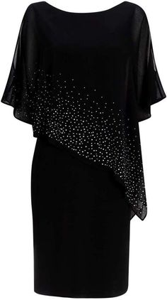 Black Embellished Overlay Dress Source by yourclothescom formales Formal Dresses With Sleeves, Elegant Dresses, Short Dresses, Women's Dresses, Mom Dress, Lace Dress, Chiffon Dress, African Fashion Dresses, Fashion Outfits