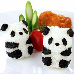 Your rice balls will never be boring with the Baby Panda Onigiri Set! Easily create small rice balls shaped baby panda with this set. Panda Sushi, Panda Panda, Panda Food, Kreative Snacks, Bento And Co, Cute Bento, Bento Recipes, Bento Ideas, Rice Balls