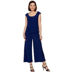 33b75ae671 Look what I found on Navy Flare-Leg Jumpsuit - Petite   Petite Plus