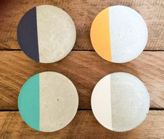 Items similar to Concrete coasters (set of on Etsy Concrete/ cement coaster (set of Coasters are sealed for protection. Cork pads on the bottom. Custom orders are welcome so please contact me Cement Art, Concrete Cement, Concrete Crafts, Concrete Projects, Concrete Design, Coaster Design, Coaster Set, Concrete Jewelry, Beton Diy