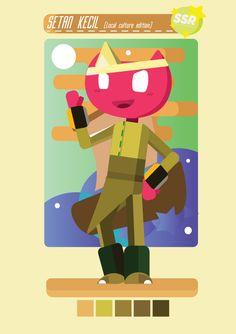Setan Kecil (little demon)  OC on FLat design by Zeel