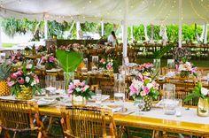 tropical tablescape
