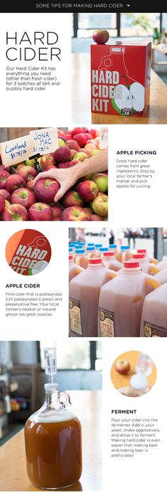 How To Make Hard Cider | Brooklyn Brew Shop Hard Cider Kit http://thema.sh/HardCiderKit