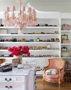Luscious bedroom dressing room walk-in wardrobe design - chandelier-show-storage-closet.jpg