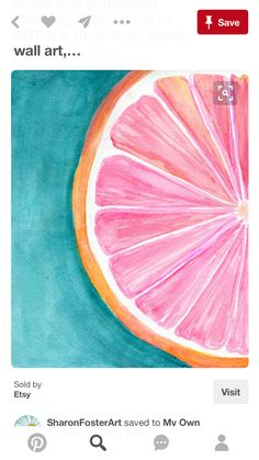 Sweet N Tart Grapefruit 169 Dawn Eaton Paintings