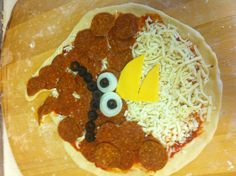 Angry pizza, angry bird. Pitza party!