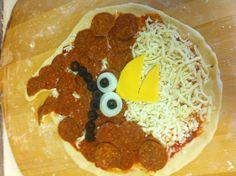 Angry pizza, angry bird.