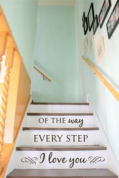 Stair Decal - Staircase Ideas - Stairway Ideas - Stairs Quotes - Stair Riser Decals - Floor Decals - Wall Stickers - Wall Decals by luxeloft on Etsy