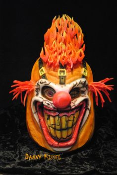 1000 images about carved pumpkins on pinterest for Clown pumpkin painting
