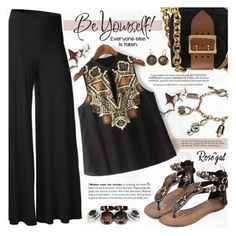 """Be Yourself !"" by katjuncica ❤ liked on Polyvore featuring Burberry, Whiteley and 1884"