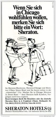 Original-Werbung/ Anzeige 1969 - SHERATON HOTELS - ca. 115 x 240 mm