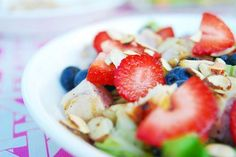 Salad with strawberries. mmm