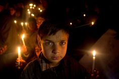 Wednesday, January 6: Kashmir Kashmiri Shiite Muslim boys hold candles during a protest against Saudi Arabia in Srinagar, Indian controlled Kashmir on Tuesday, Jan. 5, 2016. Hundreds of Shiite Muslims in the Indian portion of Kashmir rallied in the Shia dominated areas protesting against Saudi Arabia, after they announced on Saturday that it had executed 47 prisoners convicted of terrorism charges, including al-Qaida detainees and a prominent Shiite cleric who rallied protests aga  -  © Dar…