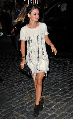 Bilson in Chanel. Love everything from the hair to the dress to the boots