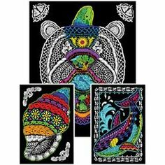 geo turtle 23x20 fuzzy velvet coloring poster by creative platypus 515 brand new - Posters To Color