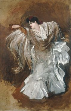 "John Singer Sargent (American, 1856–1925). La Carmencita dancing, 1890. Private Collection | This work is in our ""Sargent: Portraits of Artists and Friends,"" on view through October 4, 2015."