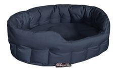 Dog Basket Dog Bed Chew Proof Large Navy Blue