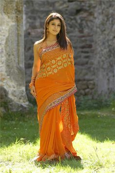 Indian Hot Girl Nayanthara Hot Photos In Orange Saree South Indian Actress Photo, Beautiful Indian Actress, Beautiful Actresses, Orange Saree, Orange Dress, Nayantara Hot, Saree Hairstyles, Nayanthara Hairstyle, Indian Photoshoot