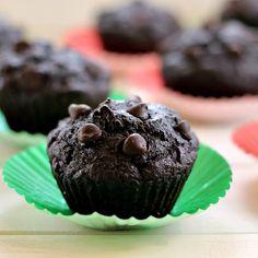 Orange-Scented Double Dark Chocolate Muffins- moist dark chocolate muffins with a warm orange glow. Luxurious, secretly healthy.
