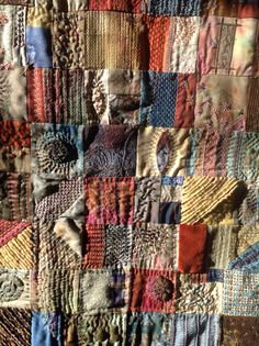 Detail of one of my 'Anything Goes' quilts,where I use left over scraps.
