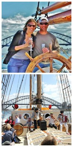 Tall Ships Sunset Cruise, Sydney Harbour - sip champagne and eat prawns and oysters as you sail on a replica tall ship. A #hooroo #SecretSpots activity.