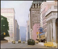 Union Square, Looking up Park Avenue Fairfield Porter (American, 1907–1975) Date:1975