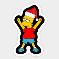 Bart Simpson Santa Hat Ugly Christmas Day - Bart Simpson Santa Hat Ugly Christmas Day - T-Shirt Bart Simpson, Christmas Wallpaper Hd, Picture Mix, Wooden Christmas Decorations, Christmas Shows, Christmas Cartoons, Christmas Stickers, Art Pop, The Simpsons