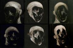 Phil Hale's skull paintings