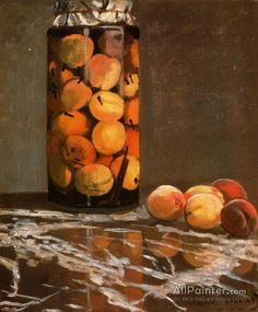 Claude Monet Jar Of Peaches oil painting reproductions for sale