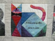 I've gotten such nice response to the post about the wedding quilt  I just finished, that I thought I'd write up the wedding quilt I made la...