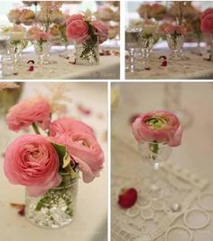 pink ranunculus wedding flowers