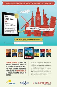 New campaign for eDreams and Bookrepublic the right book/guide for your next trip