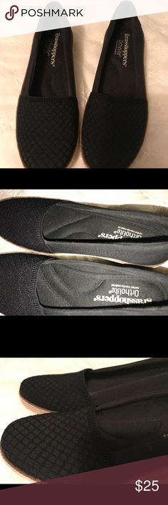 Grasshoppers petunia womens wedges Black & tan,size 6 1/2 M..good condition.. grasshoppers Shoes Wedges