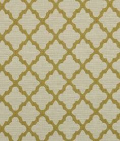 Robert Allen @ Home Casablanca Geo Citrine. Final Fabric Choice for dining bench