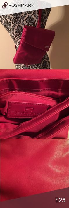 Beautiful Red Etienne Aigner Sling Bag It has some ink marks on the front and back as shown in the photo. Etienne Aigner Bags
