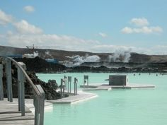 Bobbing in the Blue lagoon, Iceland